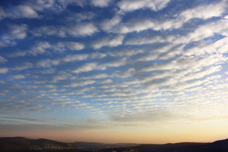 Mooie zonsopgang over Cana van Galilee, Israël royalty-vrije stock foto