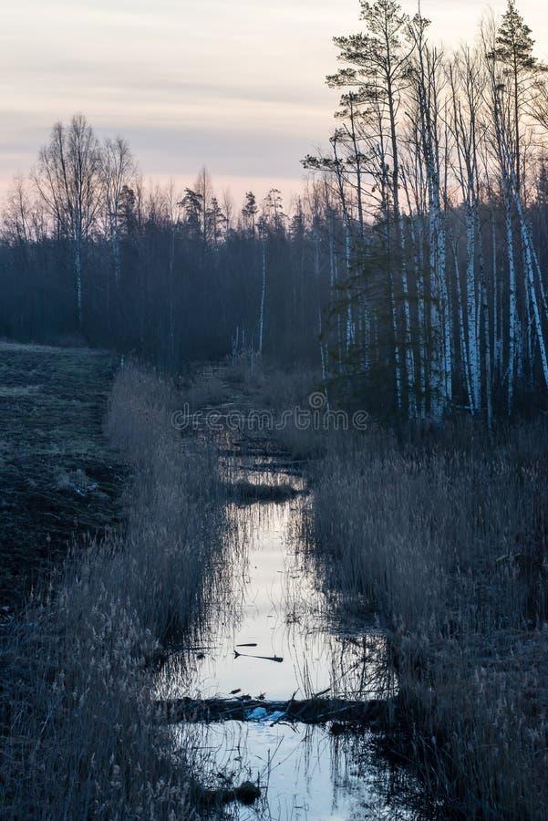 Download Mooie Zonsopgang Over Het Meer Van Het Land Stock Afbeelding - Afbeelding bestaande uit panorama, piek: 54077401