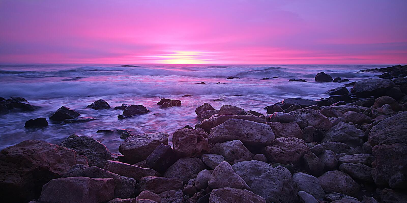 Mooie zonsopgang in stad Varna stock afbeelding