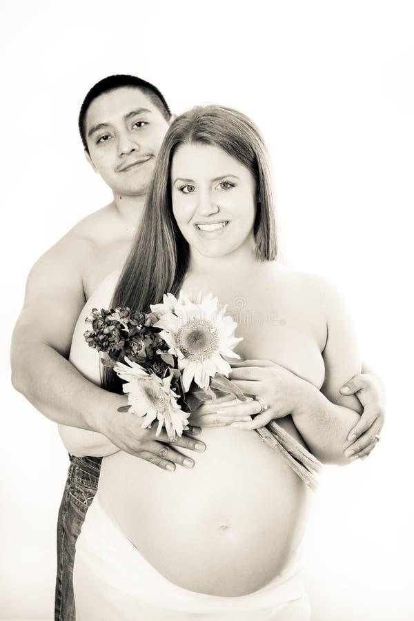 Mooie zwangere vrouw royalty-vrije stock afbeelding