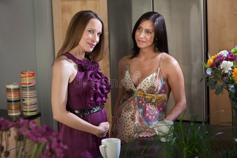 Mooie Zwangere Vrouwen royalty-vrije stock fotografie