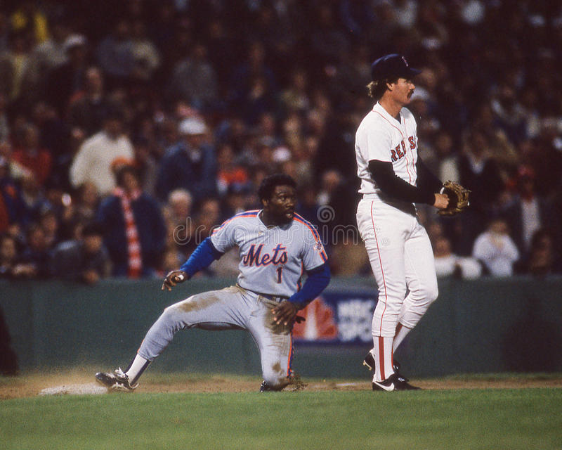 Mookie Wilson, 1986 world series imagem de stock