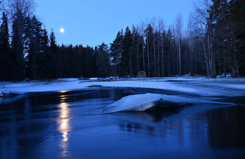 Download Moolight River Royalty Free Stock Images - Image: 29025819