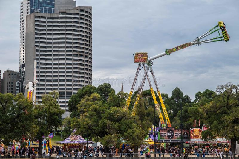 Moomba Festival Melbourne, Australia. The Moomba Festival is Australia's longest running community festival. Held along Yarra River, it attracts 1.25 stock photography