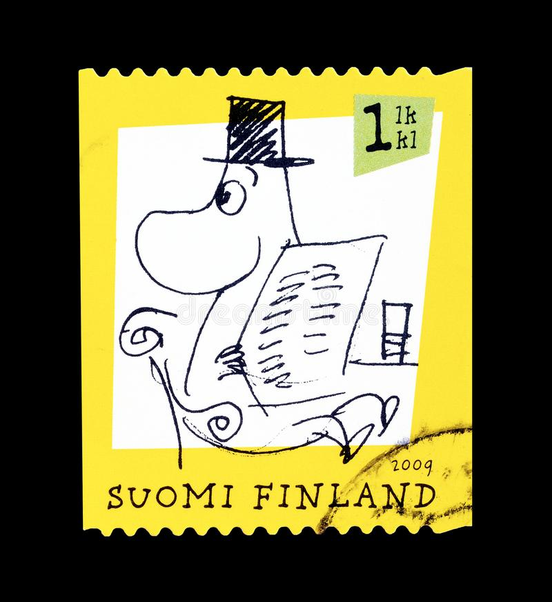 Moomins στο γραμματόσημο στοκ εικόνες με δικαίωμα ελεύθερης χρήσης