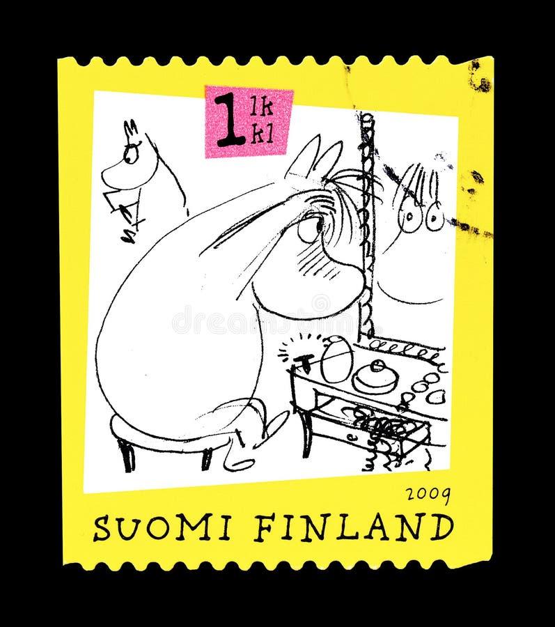 Moomins στο γραμματόσημο στοκ εικόνες