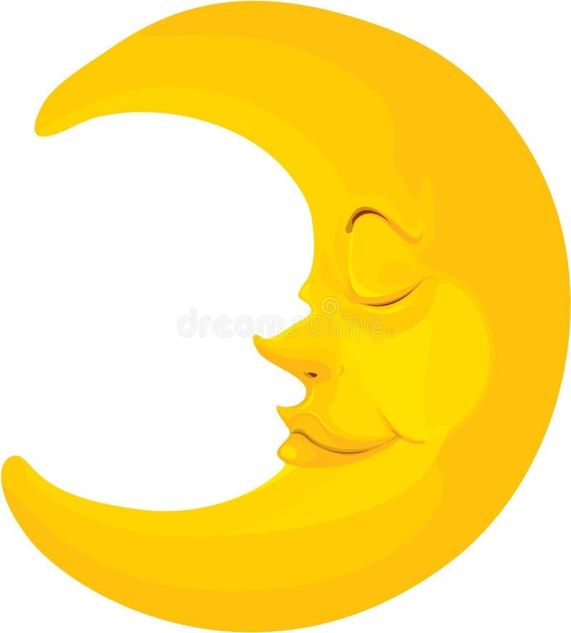 Moon. Illustration of moon on white