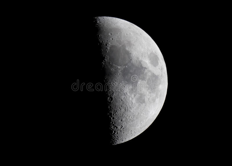 The Moon. This is an amazing view on the Moon done with a telescope and showing surface details, as well as the beauty of our natural satellite royalty free stock photography