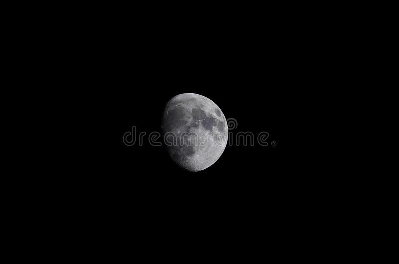 The Moon. Telescopic view of the moon royalty free stock image