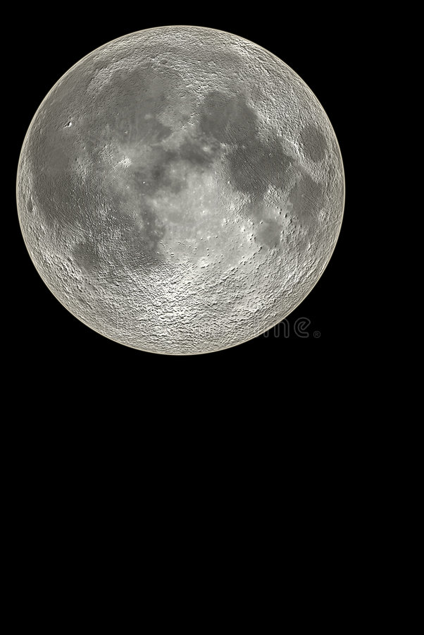 Download Moon stock photo. Image of lonely, full, outer, cold, planet - 1928476