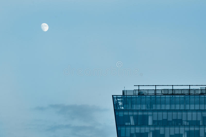 Download Moon stock photo. Image of building, view, peace, sunset - 25515288