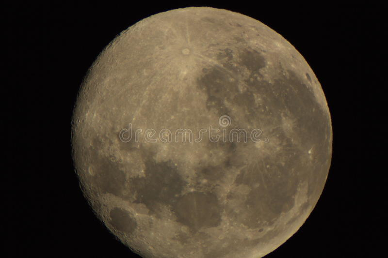 Moon. Foto moon by teleskop night royalty free stock image