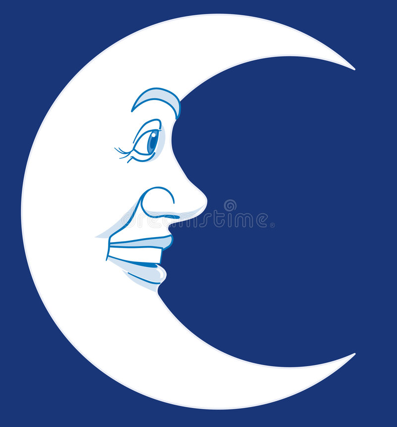Download Moon stock vector. Image of closeup, character, moon, face - 4629818
