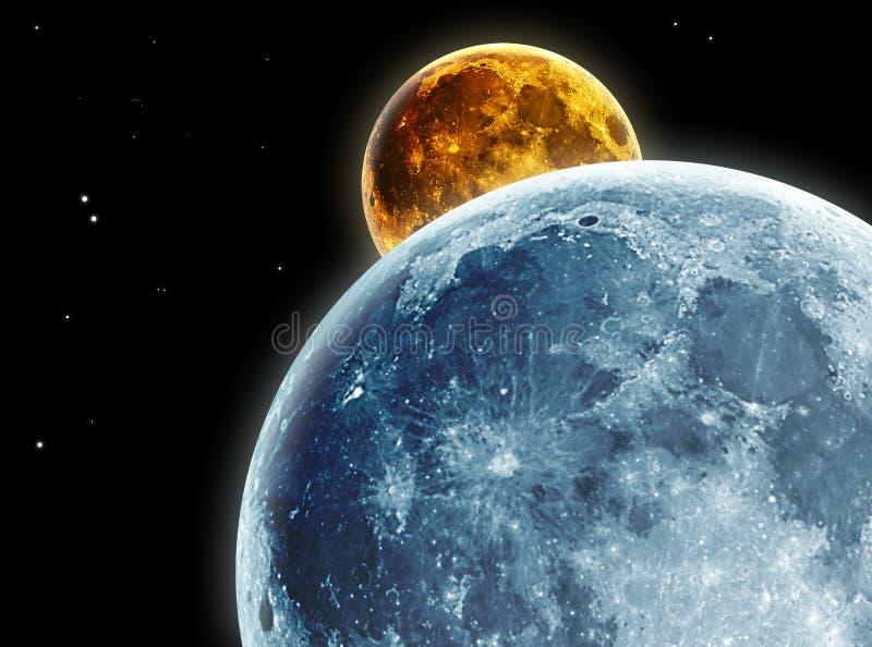 Download Moon stock illustration. Illustration of moons, overlap - 4646248