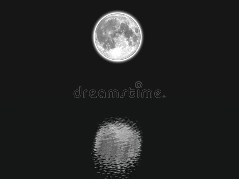 Download Moon stock illustrationer. Illustration av vatten, vitt - 508328