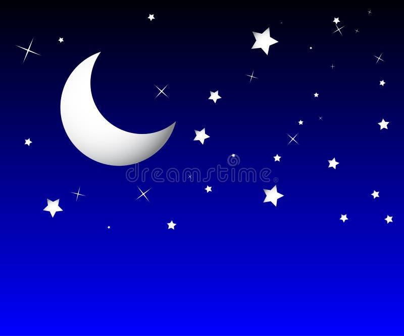 moon stock illustrationer