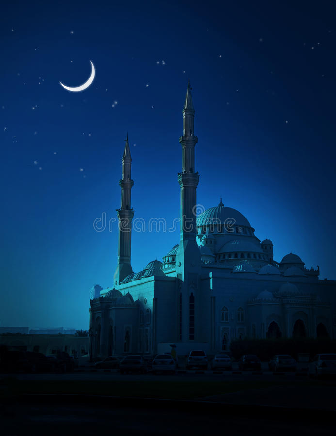 Free Moon And Mosque Stock Image - 20620381