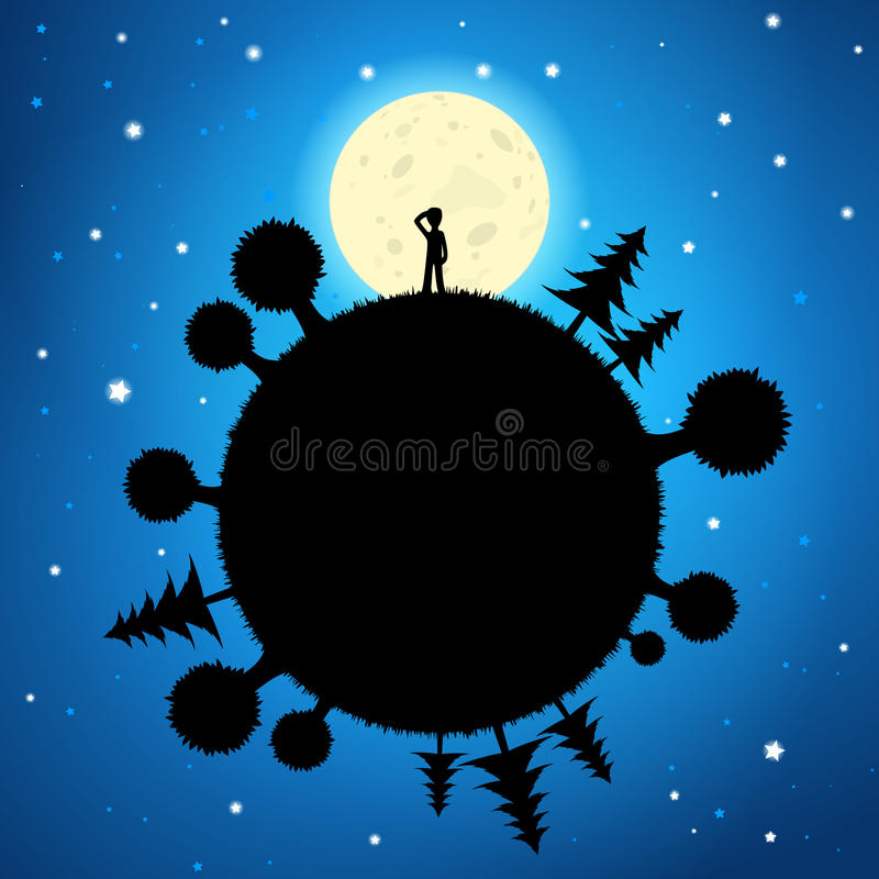 Free Moon And Planet In The Night Sky Royalty Free Stock Photo - 32451165