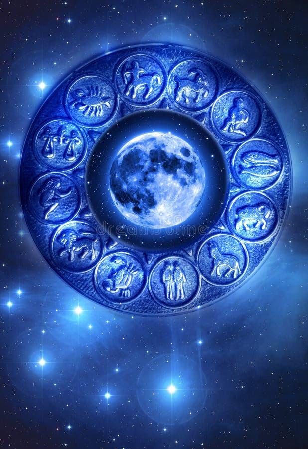 Moon astrology stock image
