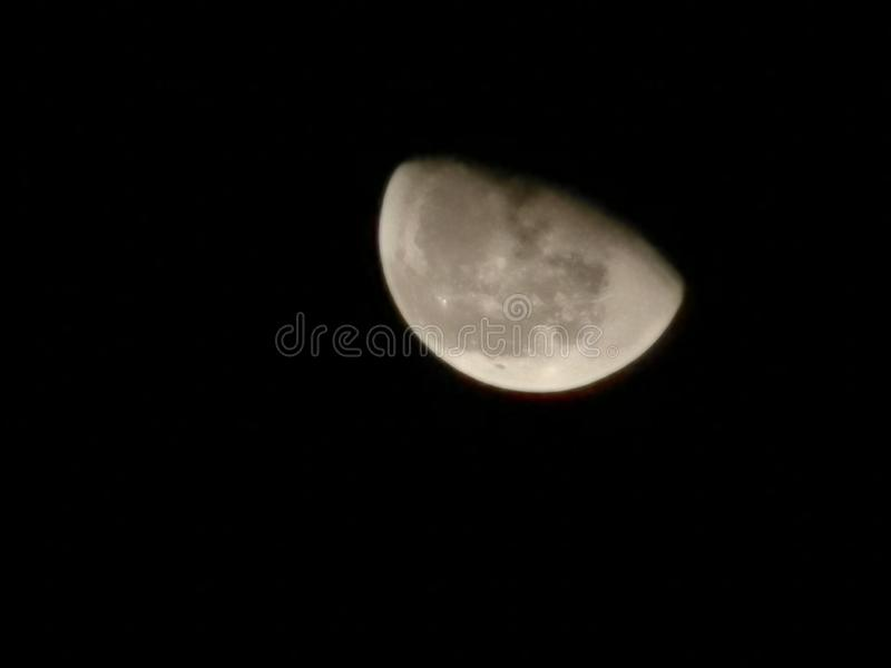 Moon aus Kuwait mit huawei p30 pro lizenzfreies stockbild
