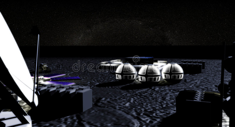 Download Moon base stock illustration. Image of scifi, another, moon - 598661