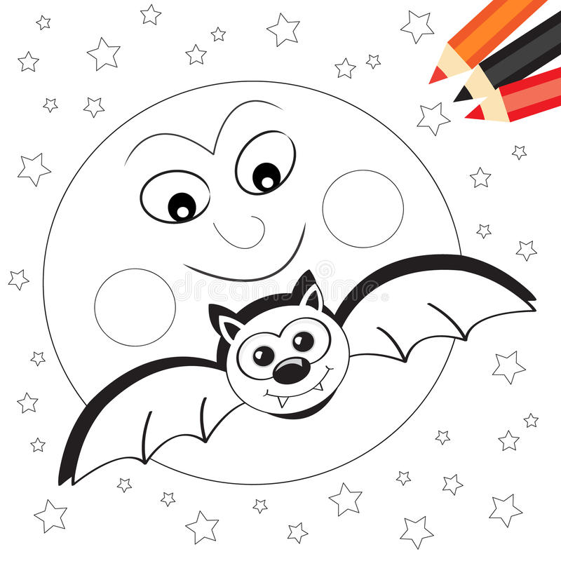Moon and bat royalty free stock images