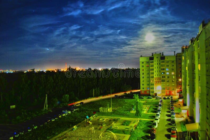 moon, beautiful clouds stock photos