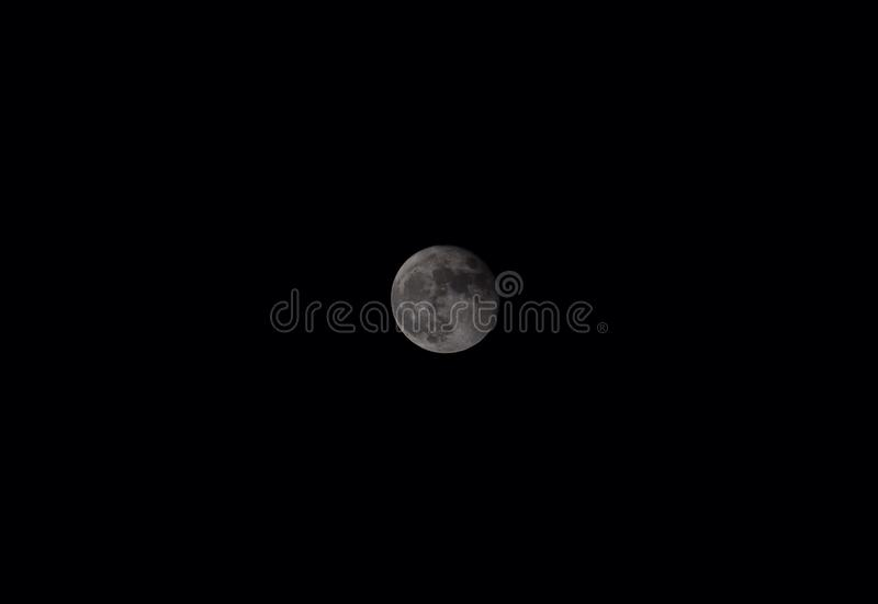Moon. On black sky stock images