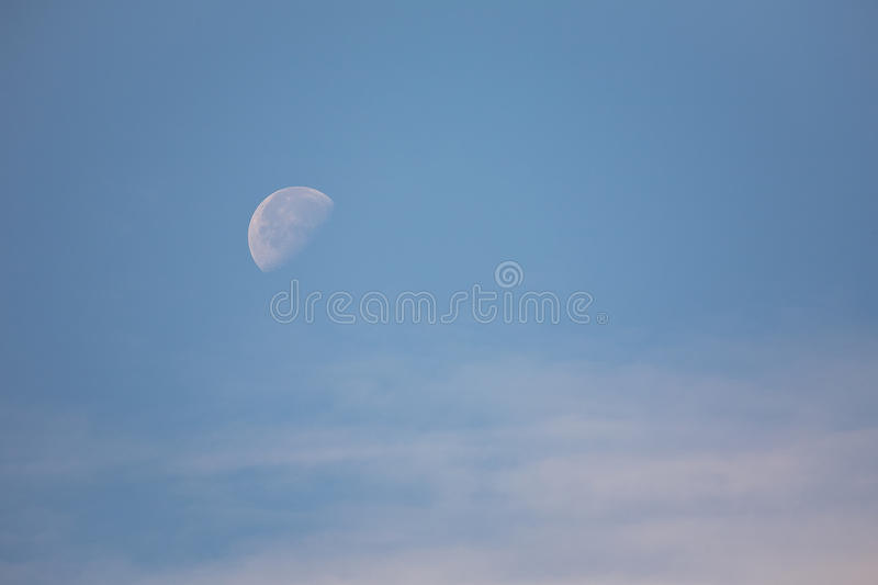 Download Moon in blue sky stock image. Image of reflection, wispy - 15894379