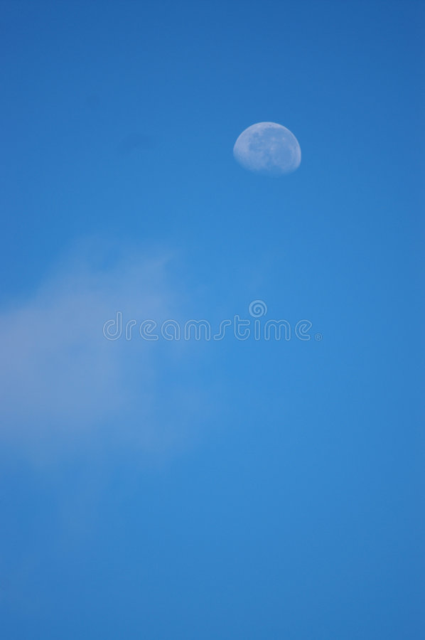 Moon on Blue Sky royalty free stock images