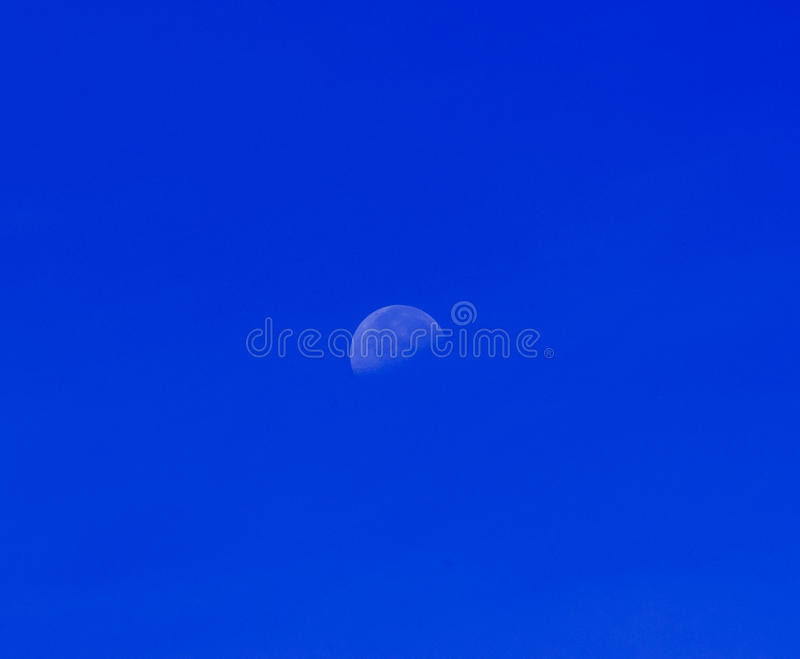 The Moon On Blue Sky Stock Photos