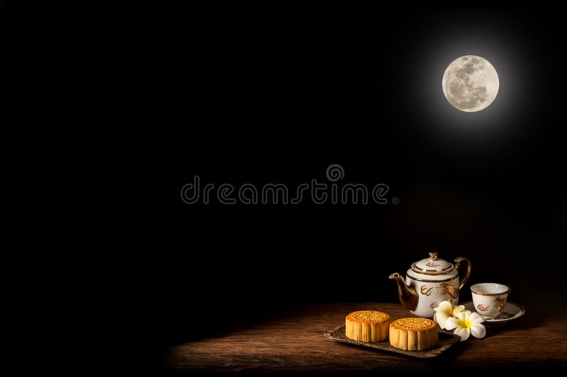 Moon Cake on Chinese festival stock photography