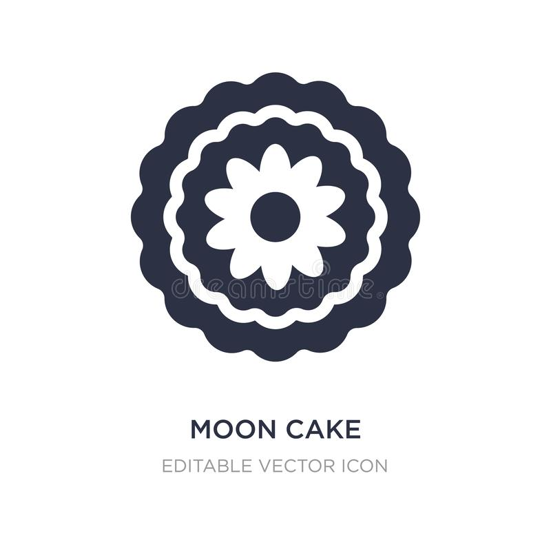 Moon cake icon on white background. Simple element illustration from Food and restaurant concept. Moon cake icon symbol design vector illustration