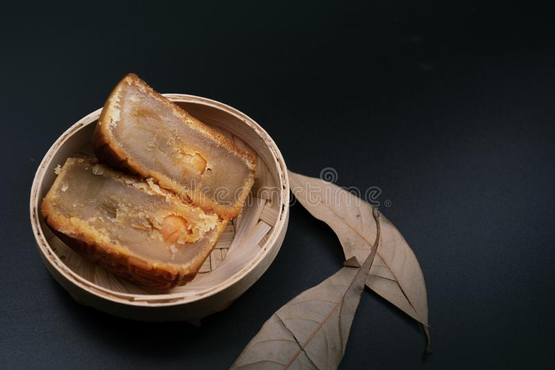 Moon cake for mid autumn day royalty free stock photography