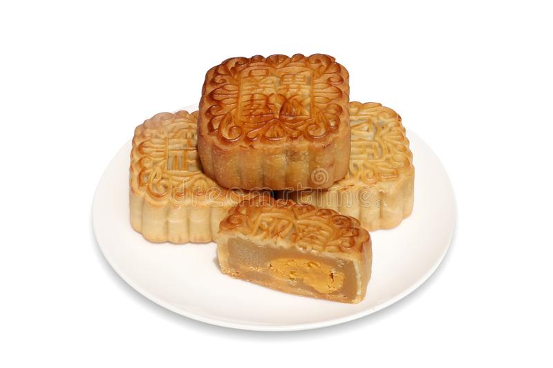 Moon cake for mid-autumn festival celebration royalty free stock images