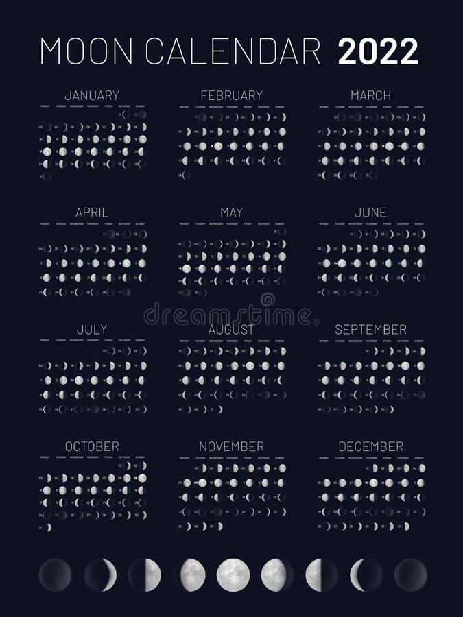Moon Calendar February 2022.Moon Lunar Calendar Stock Illustrations 1 597 Moon Lunar Calendar Stock Illustrations Vectors Clipart Dreamstime