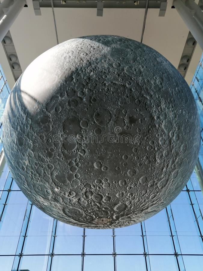 Moon at Canadian Museum of Nature  stock images