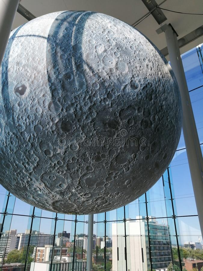 Moon at Canadian Museum of Nature stock photo
