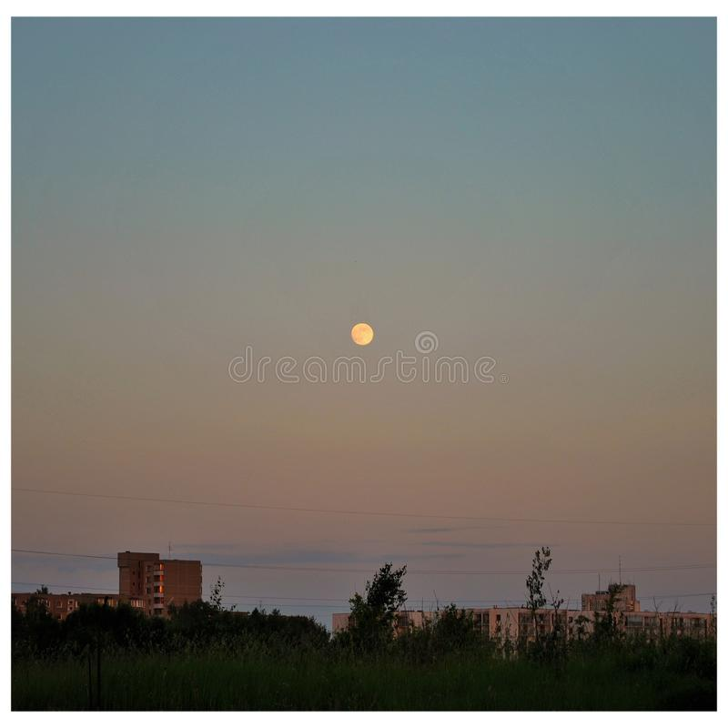 Full moon in the evening royalty free stock photos