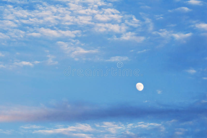 Download Moon in Cloudscape stock image. Image of phase, heavens - 10025721