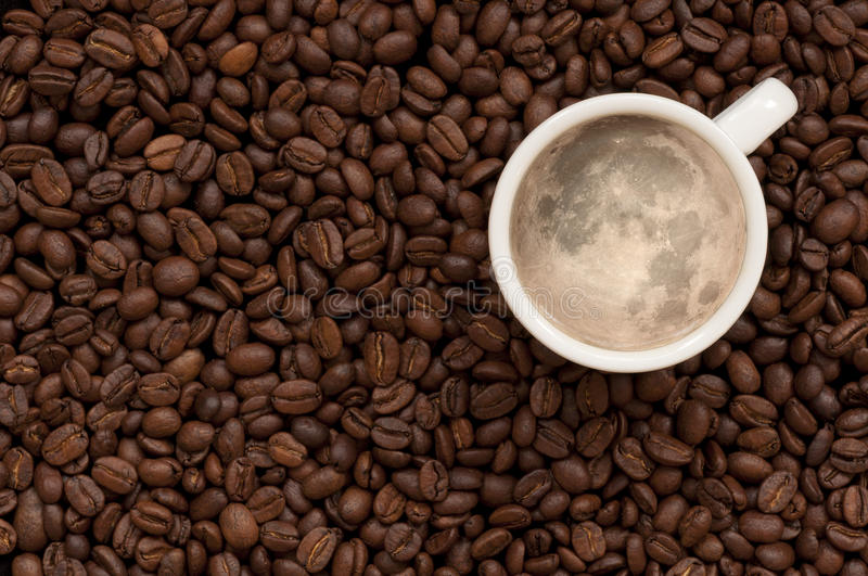 Moon coffee stock images