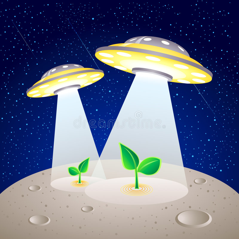 Moon Colonization Royalty Free Stock Image