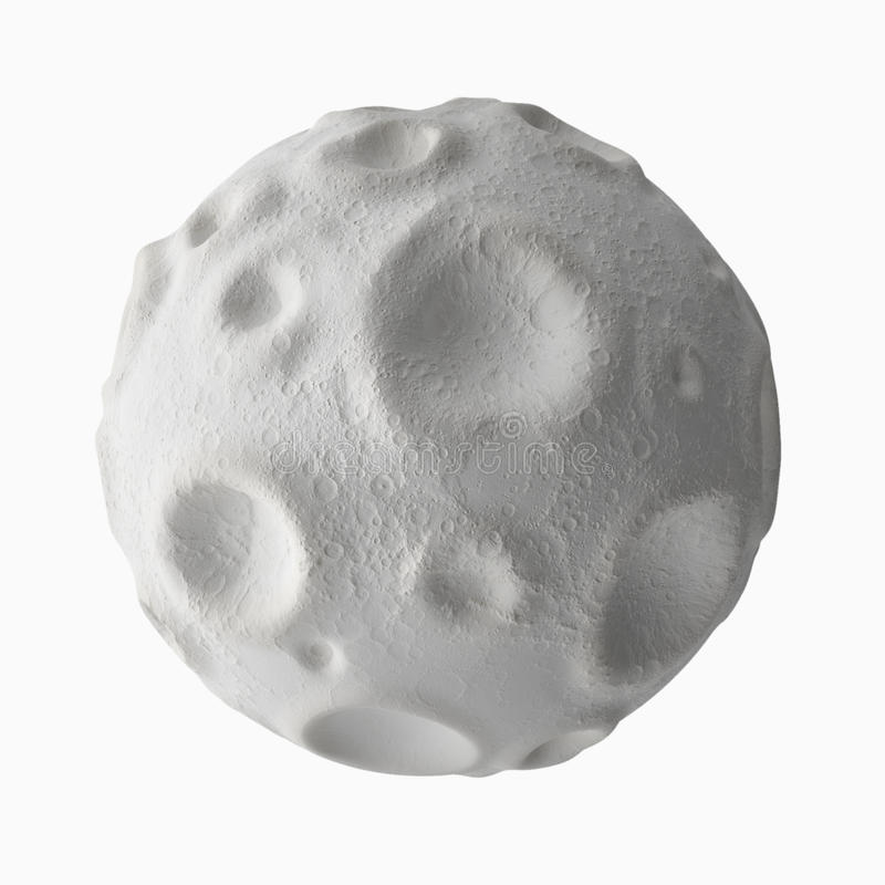 Moon with craters on the surface. Isolated on white background moon with craters on the surface royalty free illustration