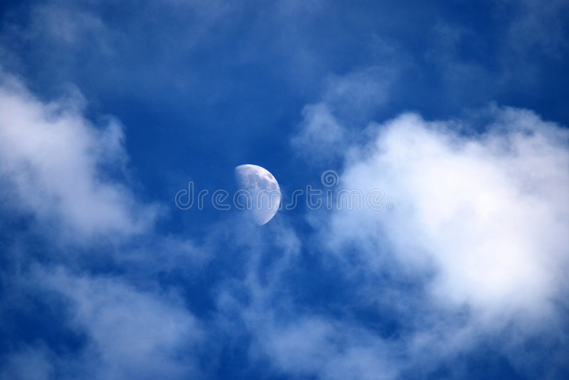 Moon in Day royalty free stock photo