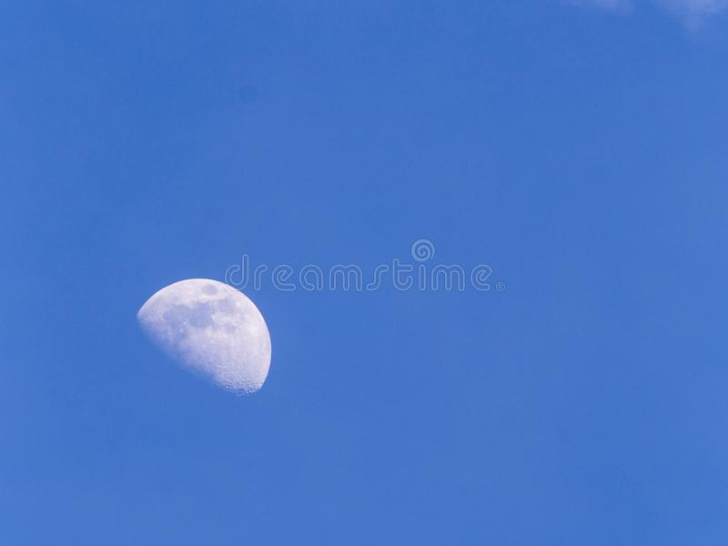 Moon in The Daytime stock photos