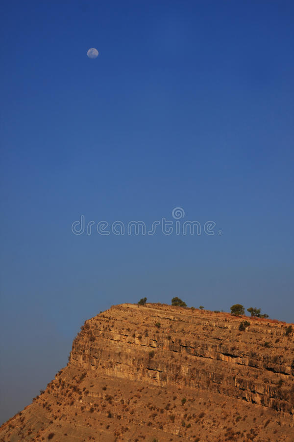 Download Moon in the desert stock photo. Image of loneliness, brown - 16155656