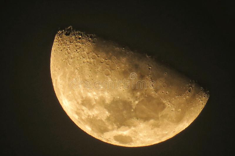Moon in details royalty free stock photos