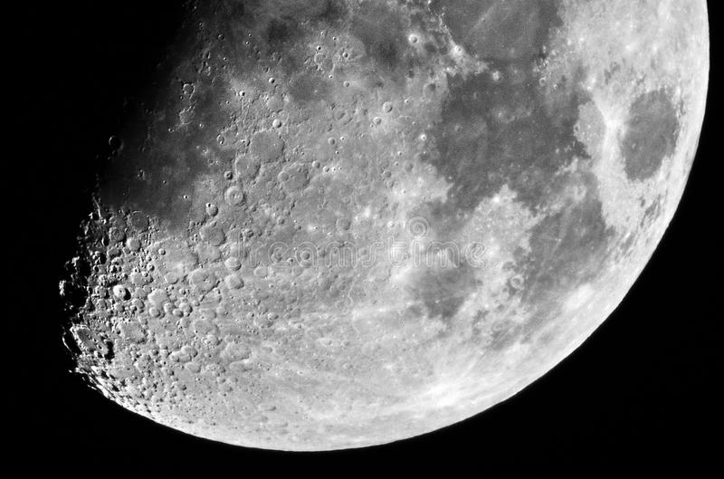 Moon details in tenth moon day royalty free stock photos