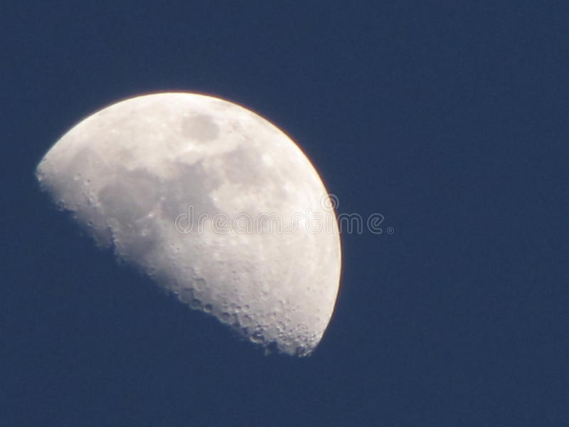 Moon at Dusk stock photo