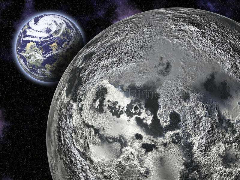Download The Moon and Earth stock image. Image of globe, durable - 17527077